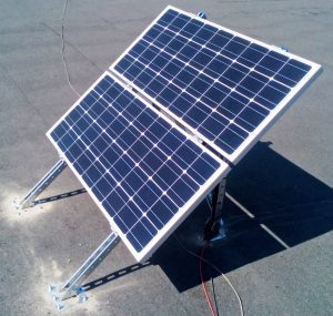 Автономна соларна система в Бургас с инсталирана мощност 200Wp